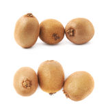 Group of three kiwifruits isolated Stock Image