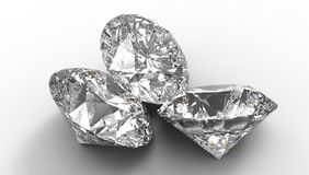 Group of Three large diamonds Royalty Free Stock Images