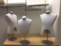 Group of three mannequins for sale. At mall store going out of business sale Royalty Free Stock Images