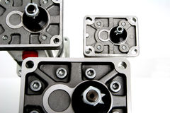 Group of three pump. In gray and black colours Stock Photos