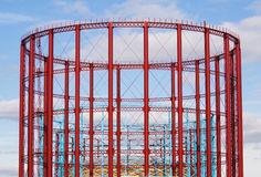 Group of three restored gasholders Royalty Free Stock Images