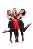 Group of three teenage beautiful girls Stock Image
