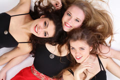 Group of three teenage beautiful girls Royalty Free Stock Photography