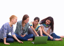 Group of three teenager girls Royalty Free Stock Photo
