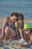 Sekfie Three Beach Royalty Free Stock Photos