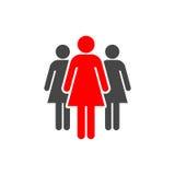 Group of three women icon. Vector icon Stock Photo