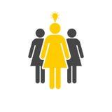 Group of three women icon Stock Photos