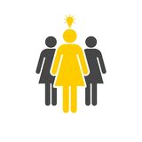 Group of three women icon. Vector icon Stock Photos