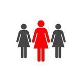 Group of three women icon. Vector icon Royalty Free Stock Photo