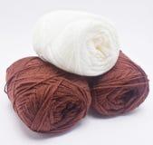 Group of three yarn balls. Royalty Free Stock Image
