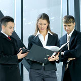 A group of three young business persons Stock Photos