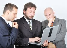 Group of three young businessmen Stock Photo