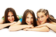 Group Of Three Young Girls Royalty Free Stock Images