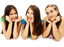 Group Of Three Young Girls Stock Images