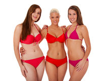 Group of three young women in bikini Royalty Free Stock Image