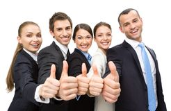 Group of thumbing up business people Stock Photography
