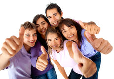 Group with thumbs-up Stock Images