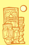 Group of Tikis #2 Royalty Free Stock Images
