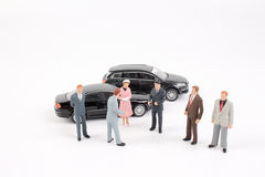 Group of tiny business people Stock Photo