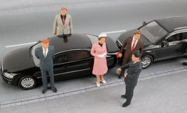 Group of tiny business people Stock Images