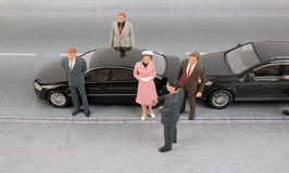 Group of tiny business people Royalty Free Stock Images