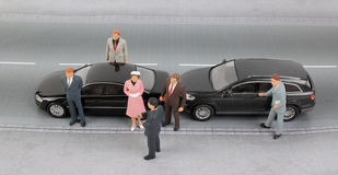 Group of tiny business people Stock Photography
