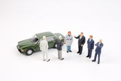 Group of tiny business people Royalty Free Stock Photo