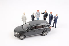 Group of tiny business people Royalty Free Stock Photos