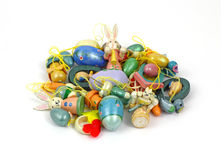 Group Tiny Easter Ornaments Stock Image