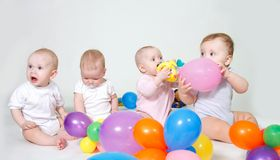 Group of toddlers Royalty Free Stock Photography