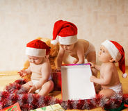 Group of toddlers stock photography