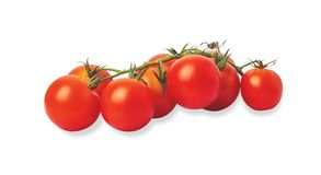 Group tomatoes isolated on the white background royalty free stock image