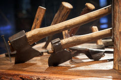 Group of tools for woodworking Royalty Free Stock Images