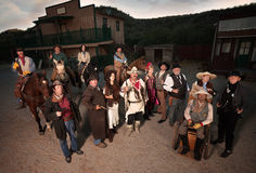 Group of Tough Old West People Royalty Free Stock Photography