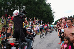 Group of tour de france riders Stock Image
