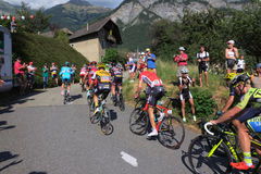 Group of tour de france riders Royalty Free Stock Photo