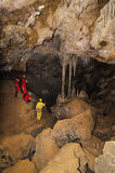 A group of tourist in the cave `La Vallina` Royalty Free Stock Image