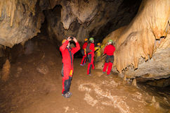A group of tourist in a cave. Stock Photography