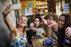 Group of tourist enjoy bucket drinks in Khao San Road Bangkok Thailand walking street Stock Photography