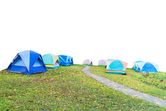 Group of tourist tent  on white Royalty Free Stock Photography