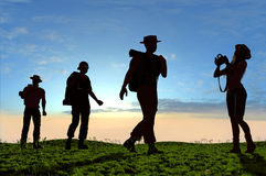 A group of tourists Royalty Free Stock Photos