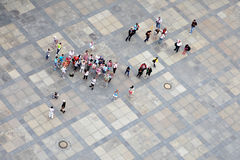 Group of tourists Royalty Free Stock Images