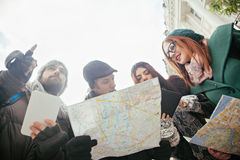 Group Of Tourists Sightseeing City Royalty Free Stock Photography