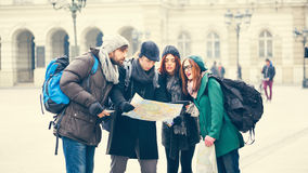 Group Of Tourists Sightseeing City Royalty Free Stock Photos
