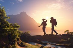 A group of tourists Royalty Free Stock Photo