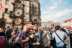 Group of tourists taking picture Stock Image