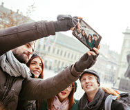 Group Of Tourists Taking Selfie Royalty Free Stock Photo