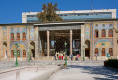 Group of tourists walking around the Golestan Palace Royalty Free Stock Photo