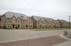 Group of town house. Group of new town house beside street Stock Images