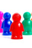 Group of toy people. Colorful toy people group vertical image Stock Image